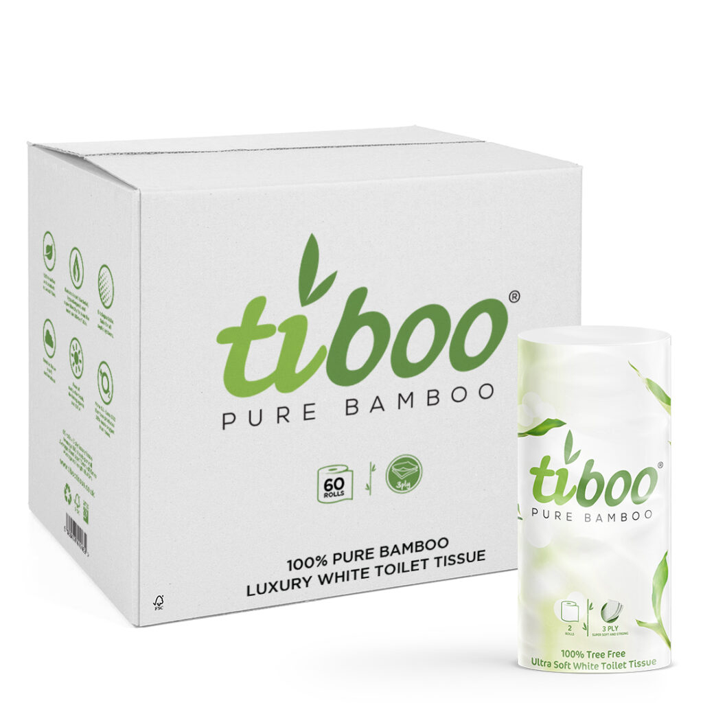 60 rolls toilet tissue pure bamboo